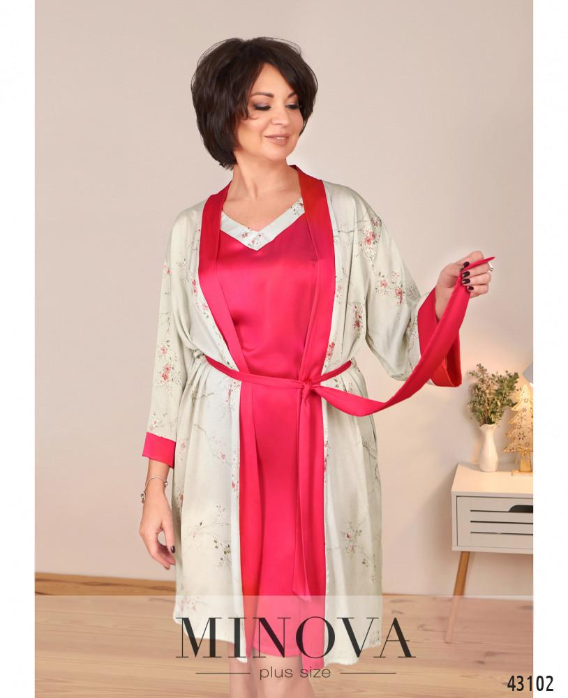 Пижамный комплект MA2098Б-розовый