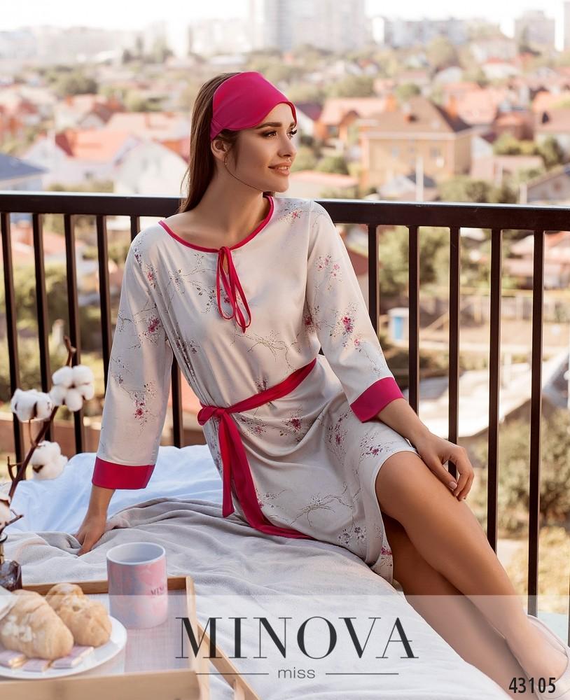 Домашнее платье MA2089-розовый (н)