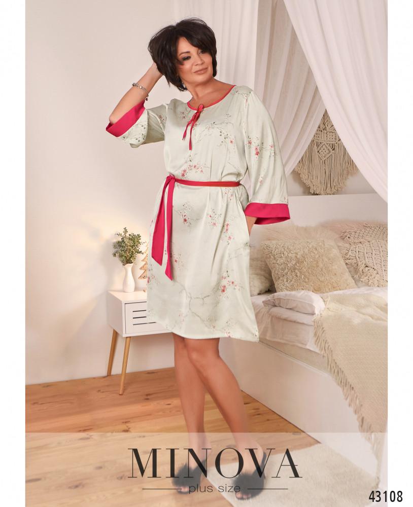 Домашнее платье MA2089Б-розовый