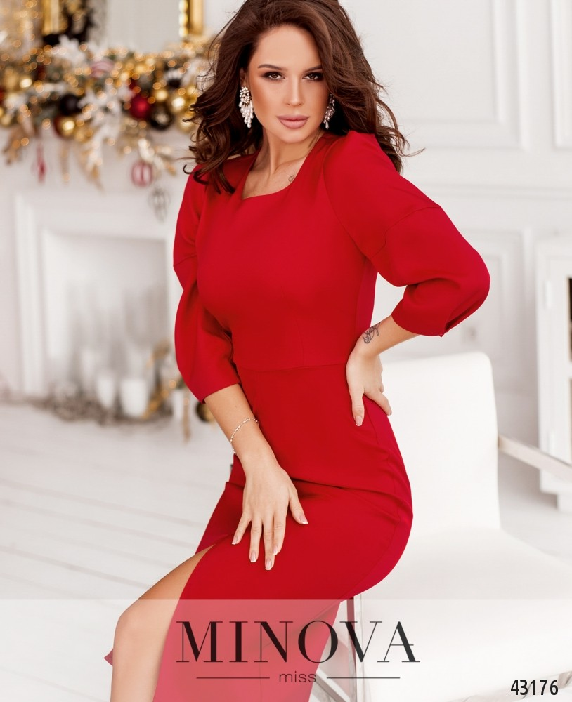 Платье MA122Н-красный (н)