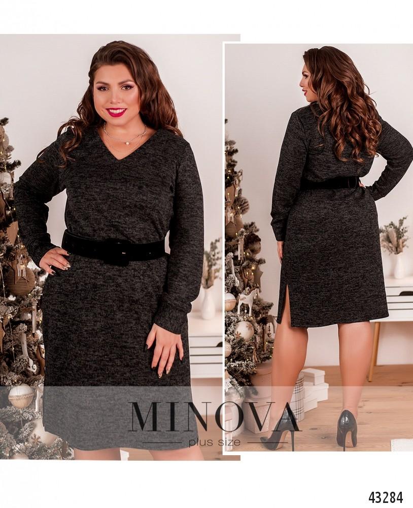 Платье №2078-1-темно-серый-М