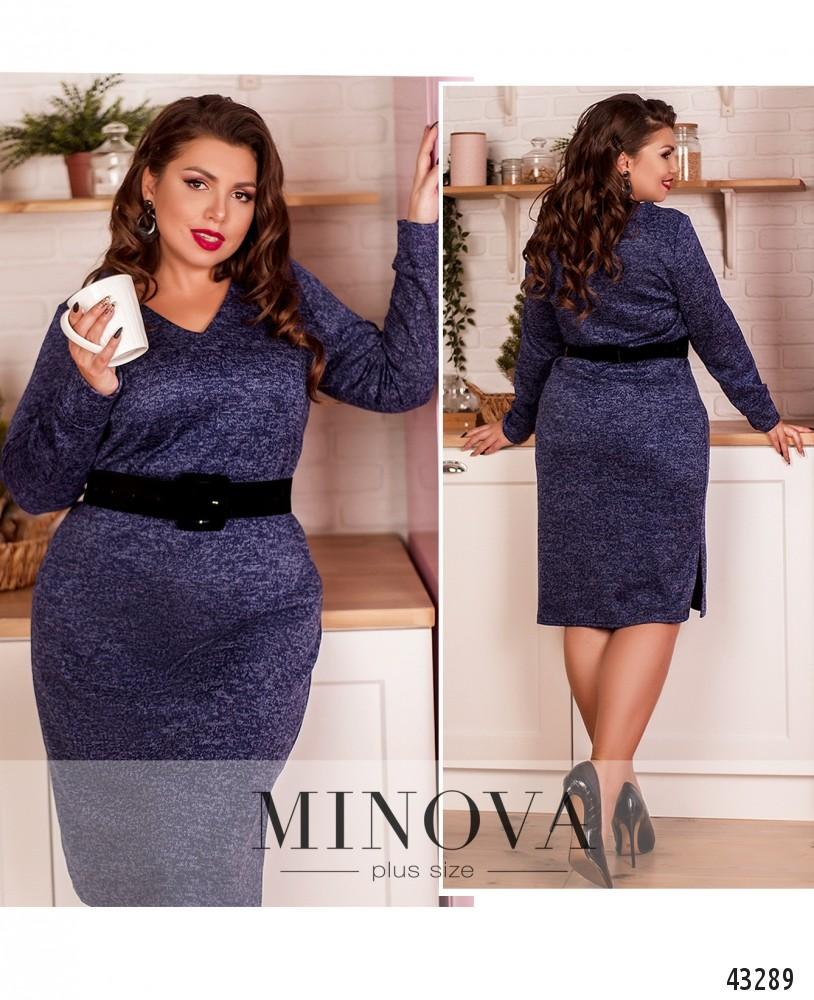 Платье №2078-1-индиго-М