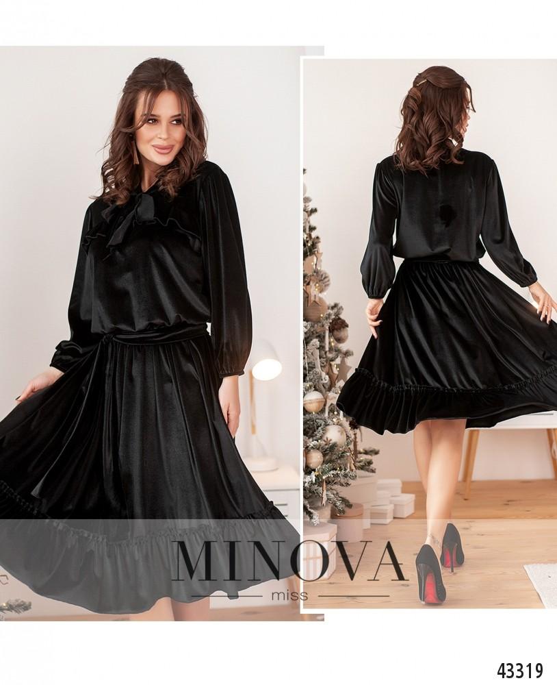 Платье №0020-черный-М