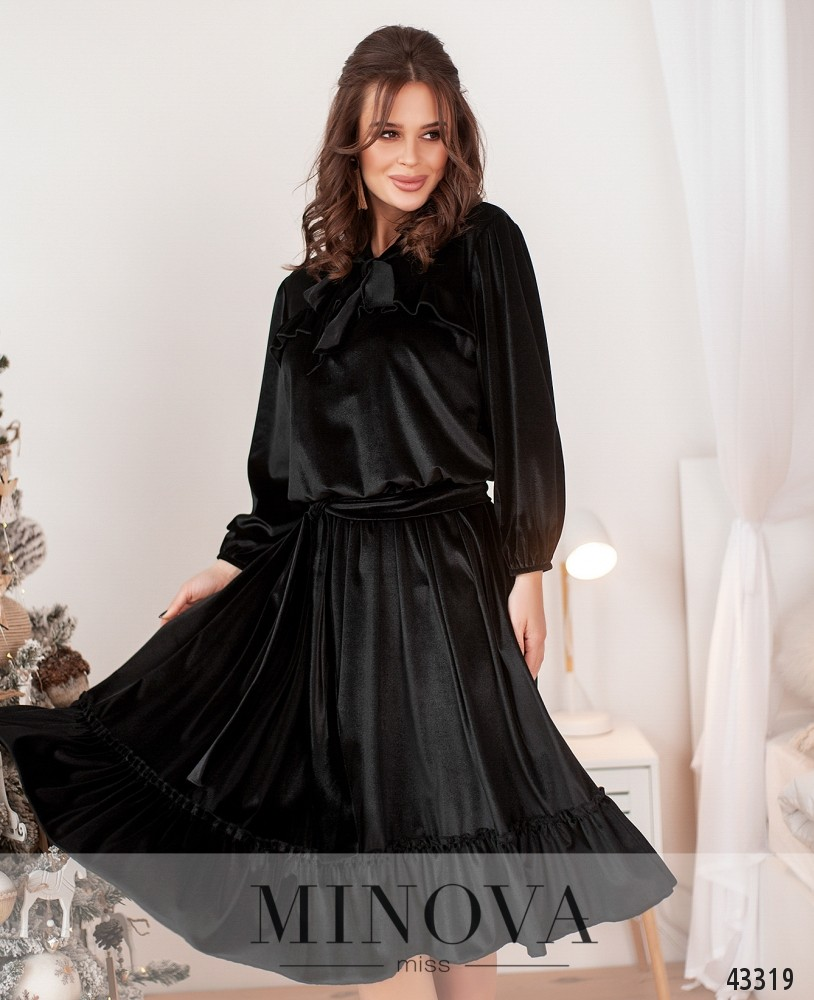 Платье №0020-черный (н)