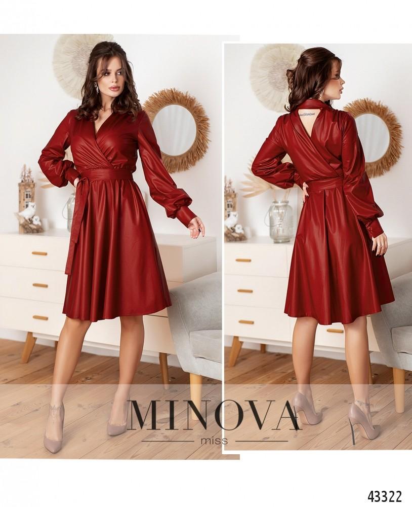 Платье №1078-красный-М