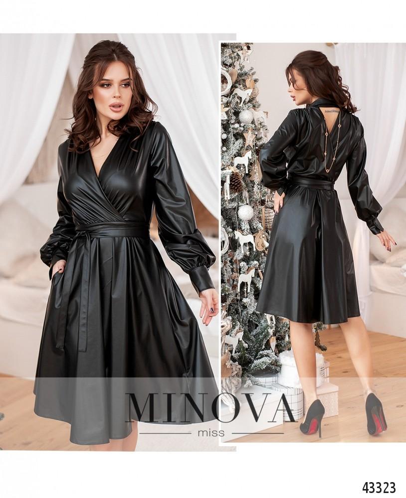 Платье №1078-чёрный-М