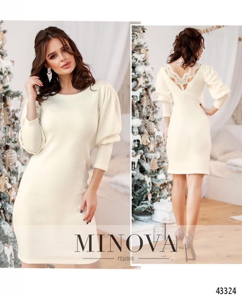 Платье №1077Н-белый-М