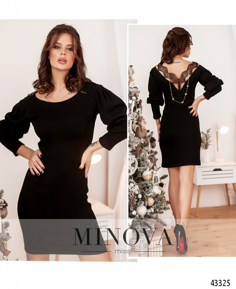 Платье №1077Н-чёрный-М