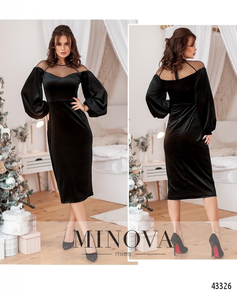 Платье №215-черный-М