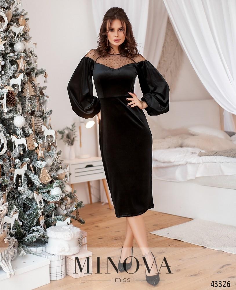 Платье №215-черный (н)