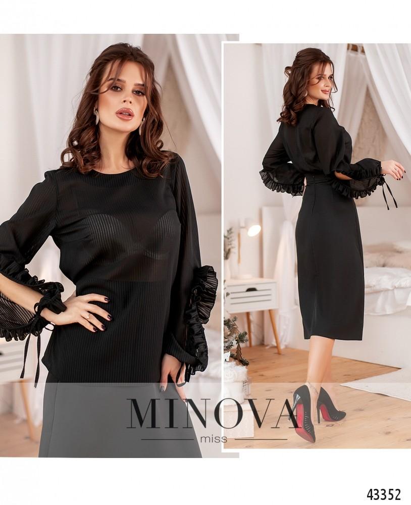 Блуза №185-черный-М