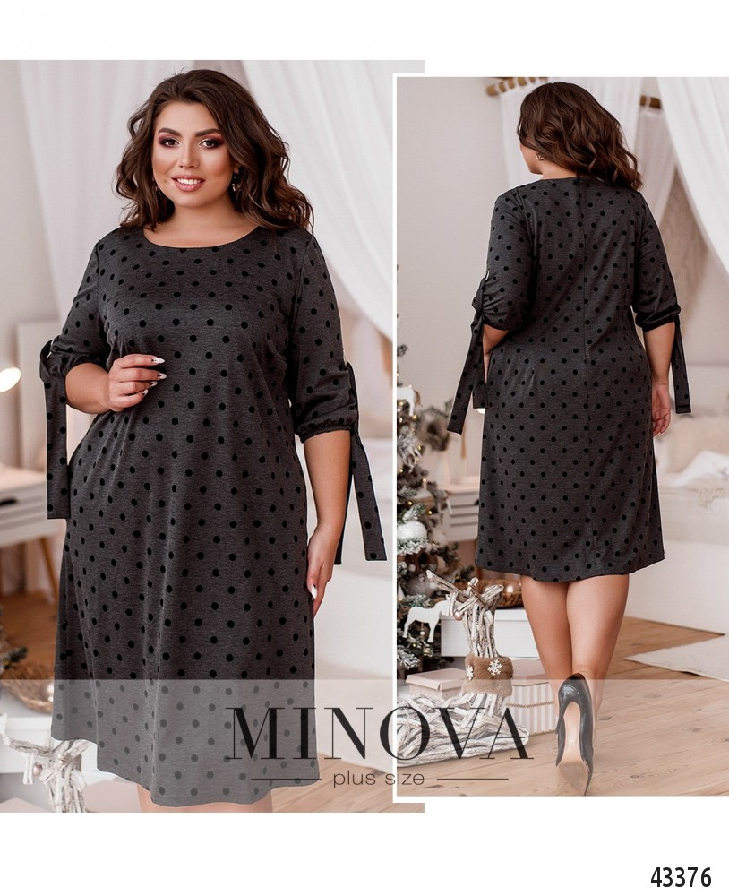 Платье №20-15-Серый-М