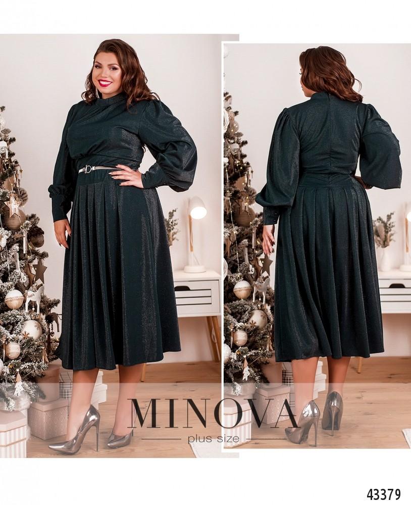 Платье №145-1-темно-зеленый-М