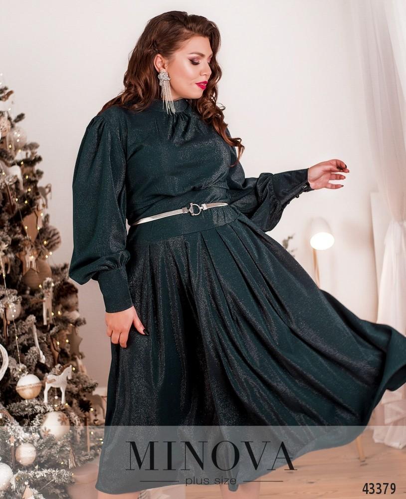 Платье №145-1-темно-зеленый