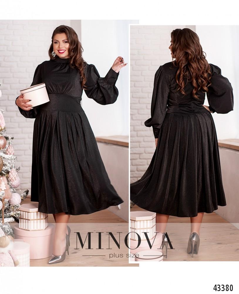 Платье №145-1-черный-М