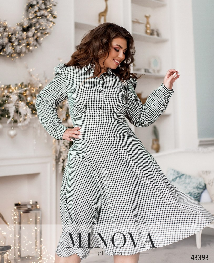 Платье №156-черно-белый (н)