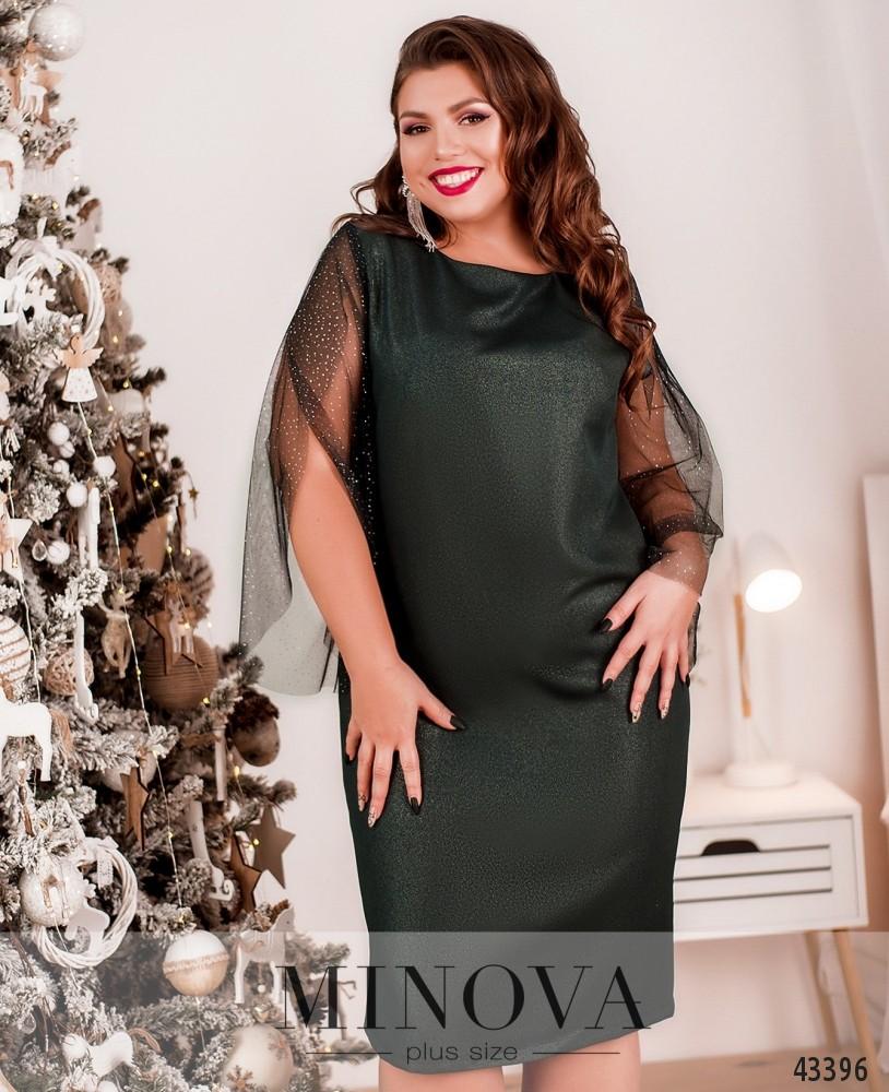 Платье №2084Б-темно-зеленый