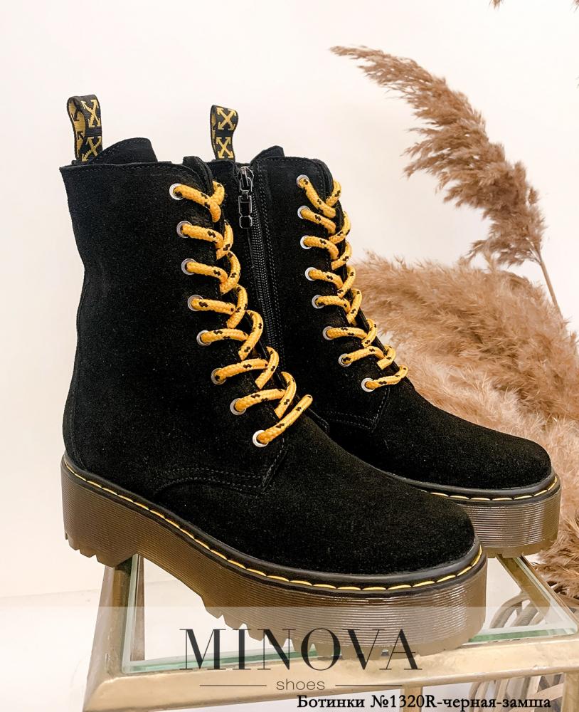 Ботинки MA1320R-черная-замша