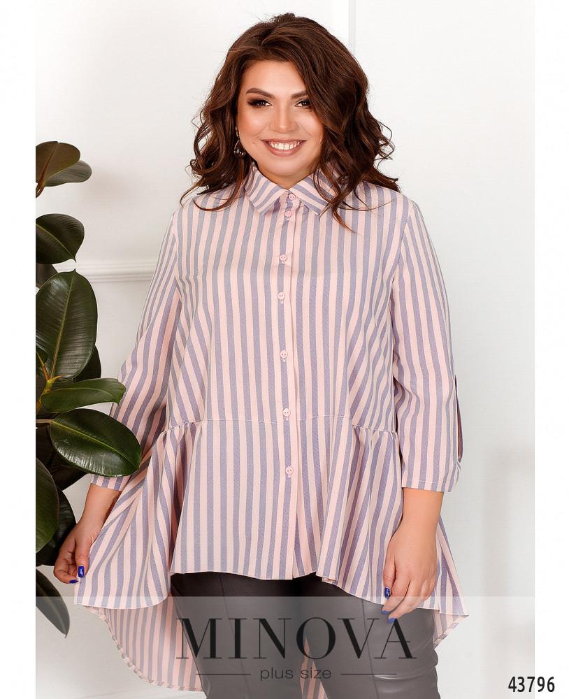 Рубашка MA70190-1-пудра