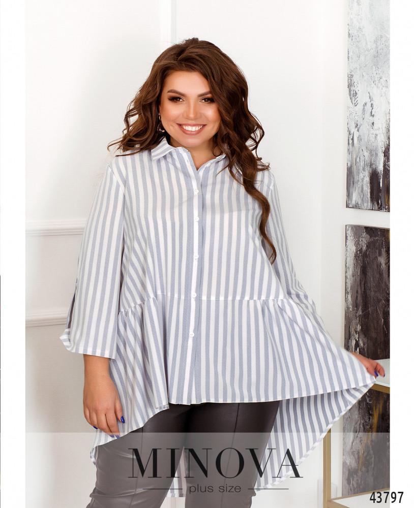 Рубашка MA70190-1-серый
