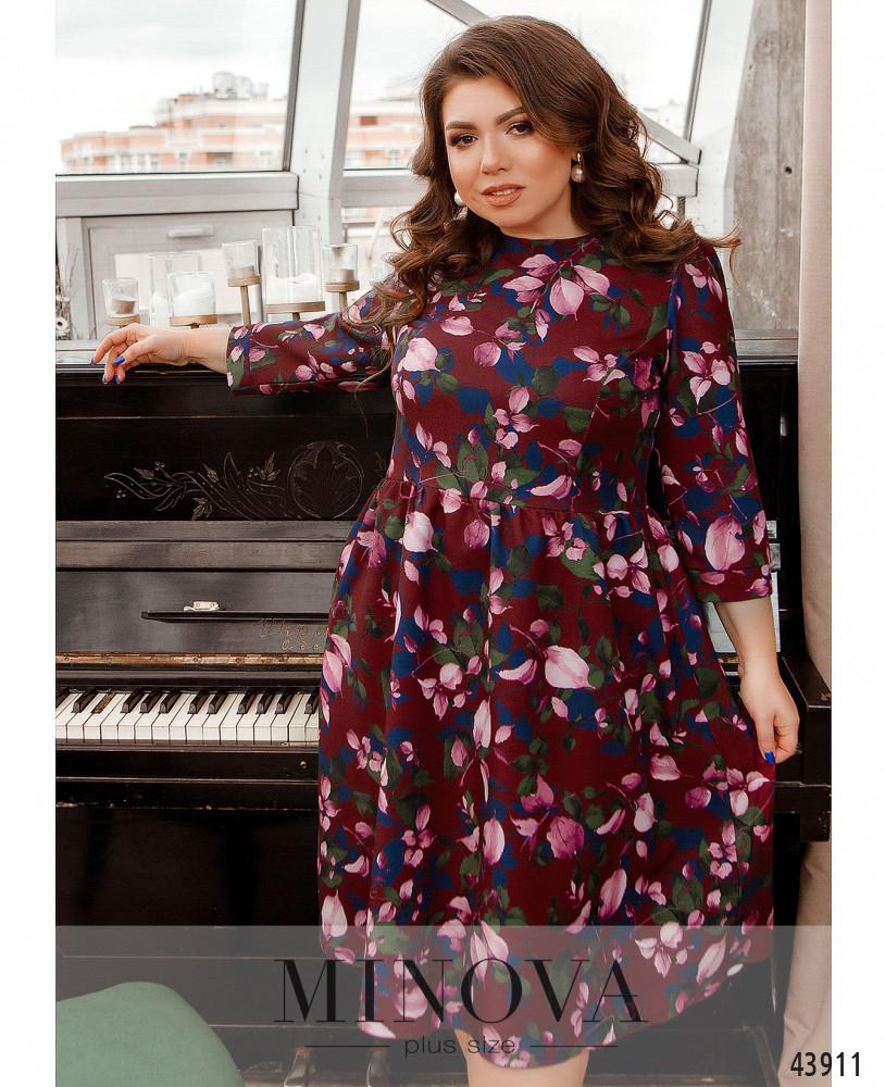 Платье MA2228-бордо-цветы