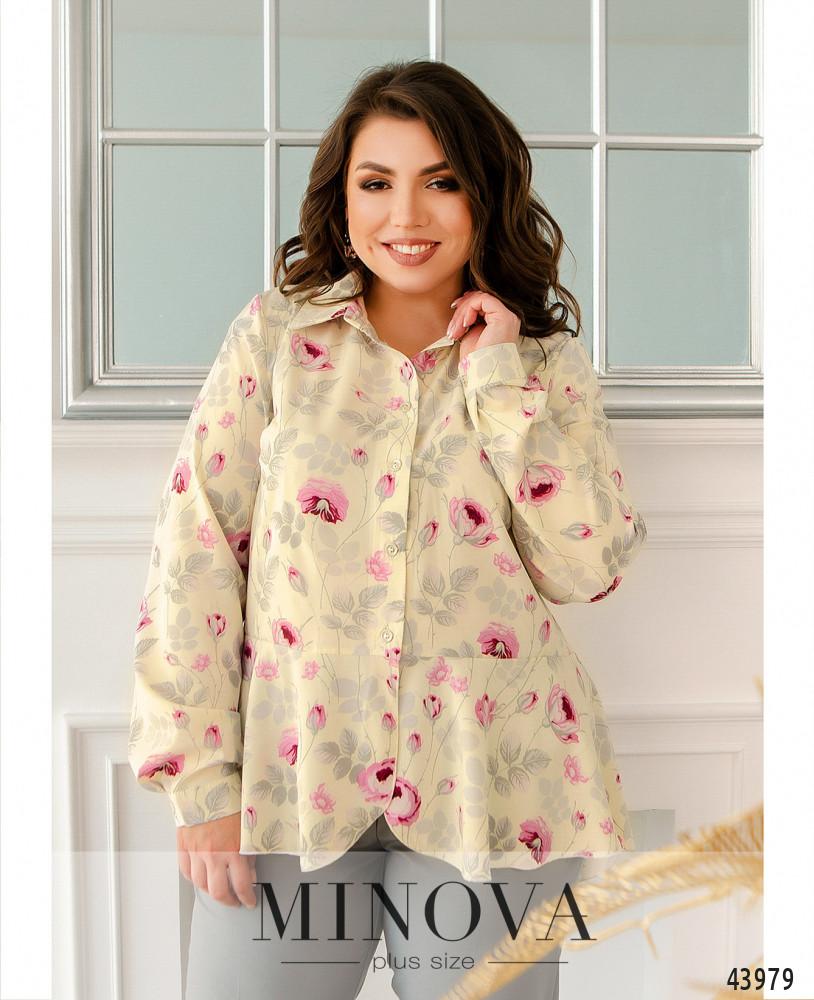 Блуза MA2229-кремовый