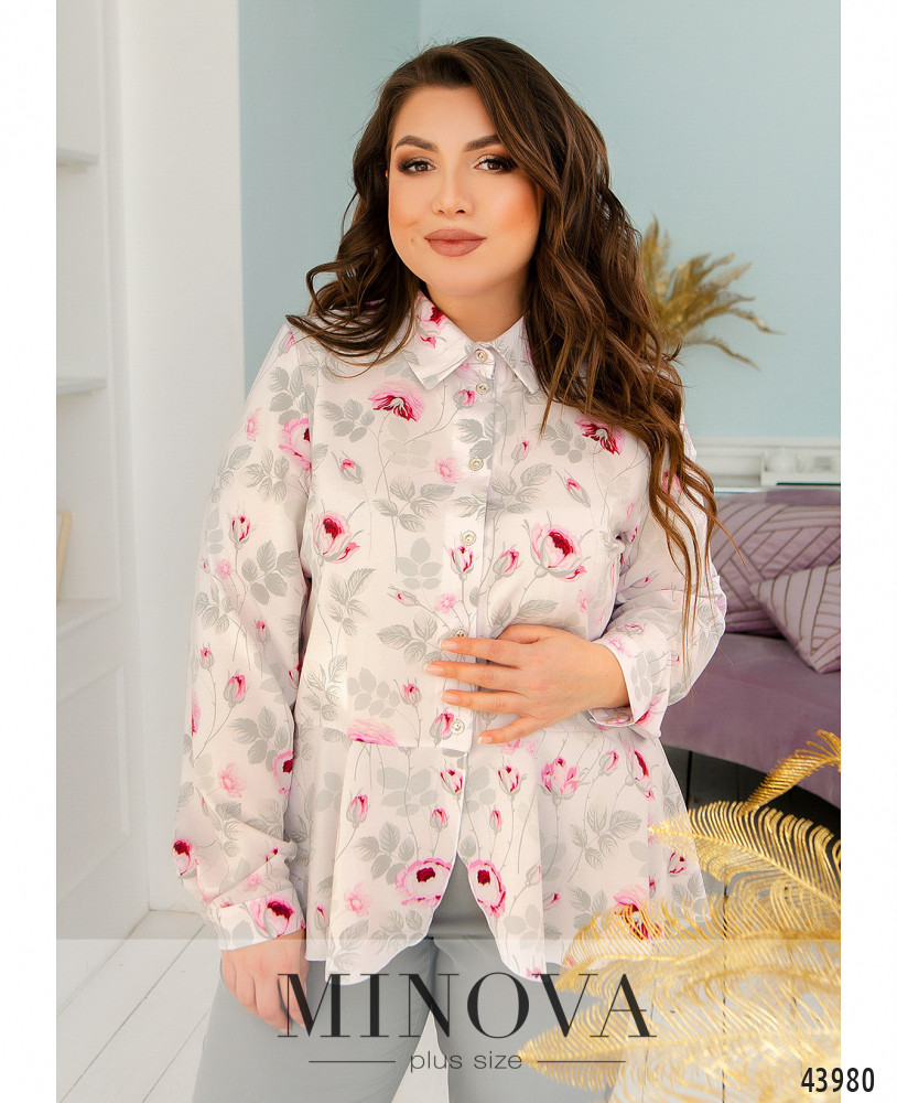 Блуза MA2229-белый