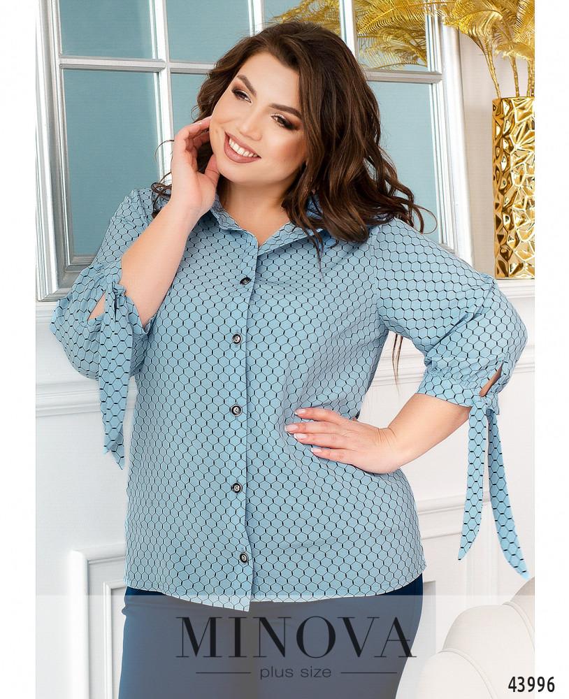Блуза MA2231-голубой