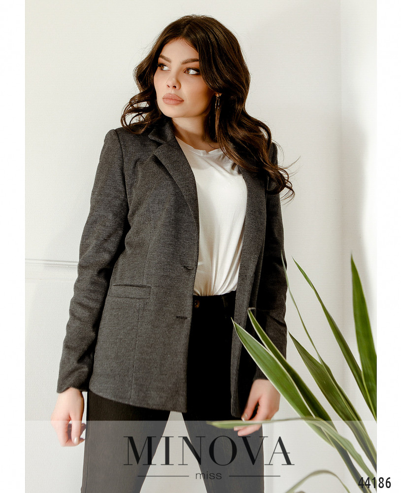 Пиджак MA2154-серый (н)