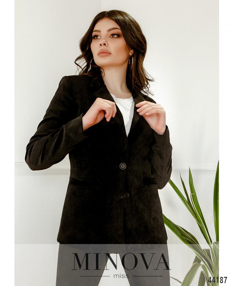 Пиджак MA2154-черный-вельвет (н)