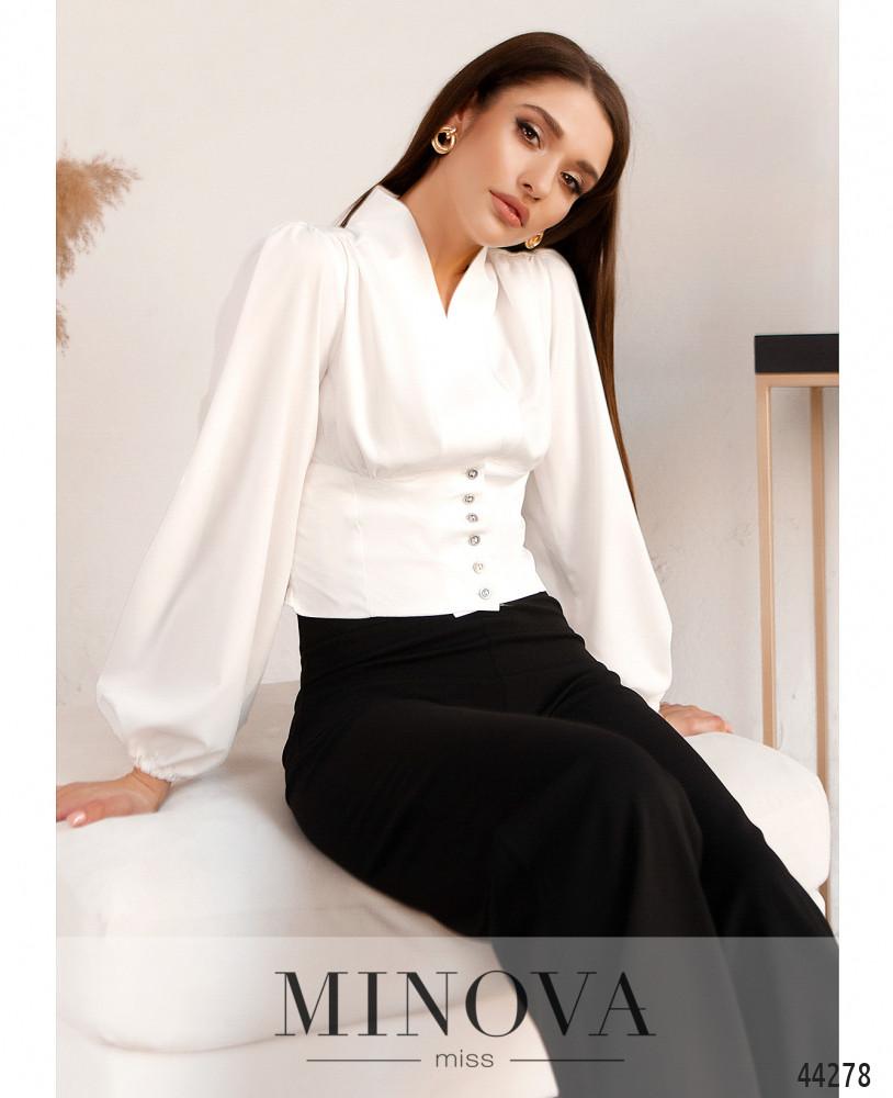 Блуза MA4136Н-белый (н)