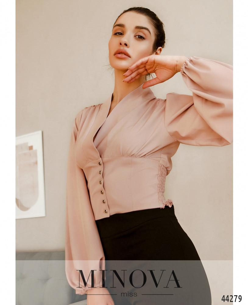 Блуза MA4136Н-пудровый (н)