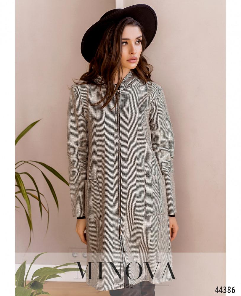 Пальто MA001-1-серый (б/н)