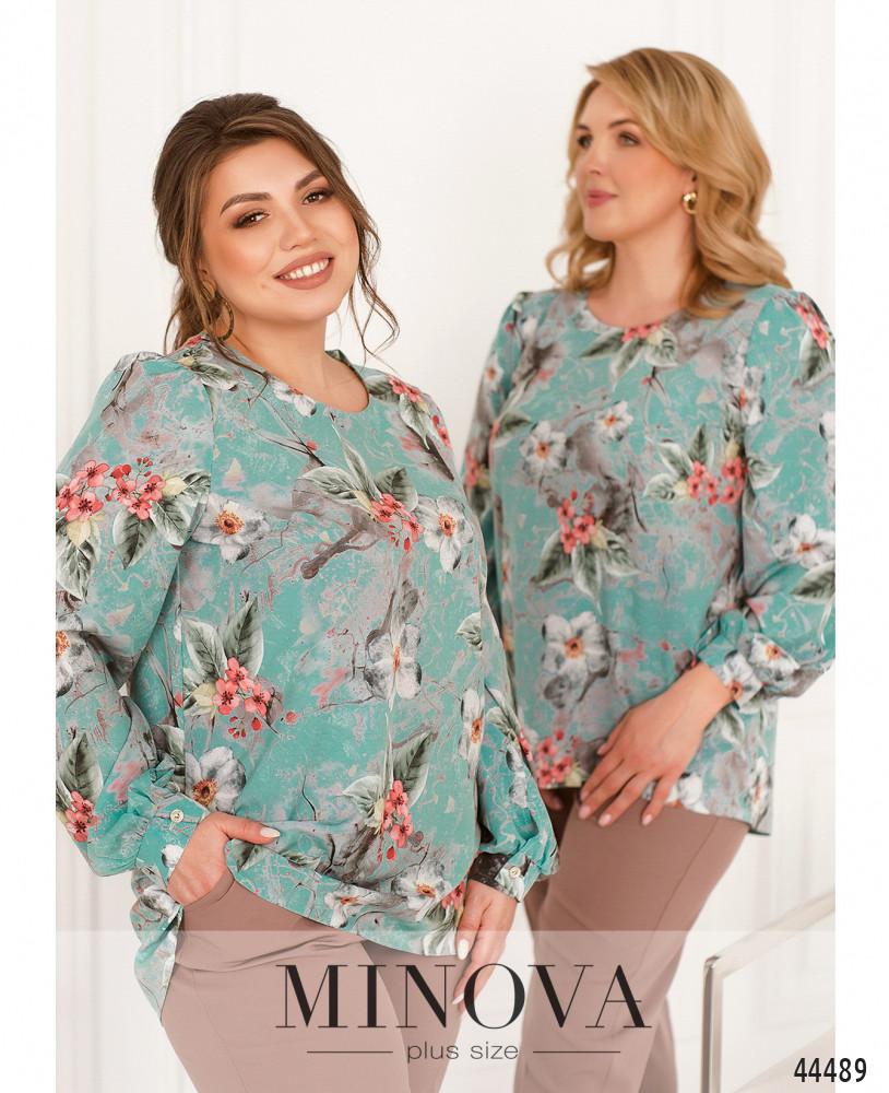 Блуза MA2238-бирюза