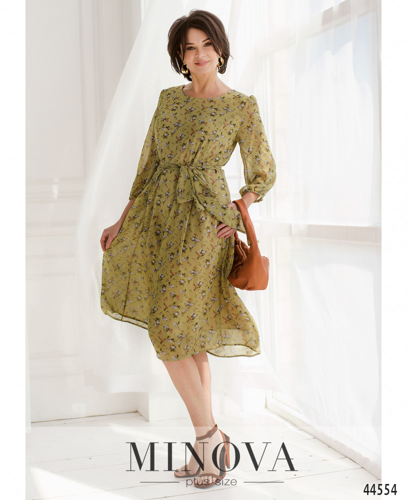 Платье MA20-08-оливковый