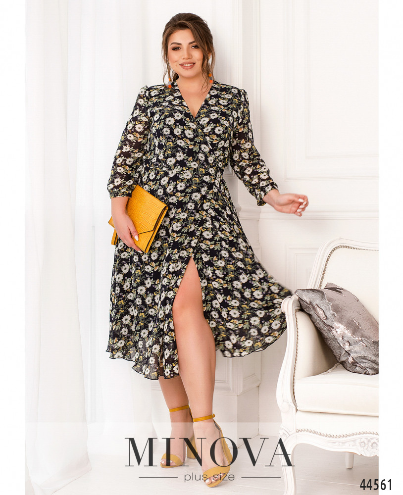 Платье MA21-07-темно-синий
