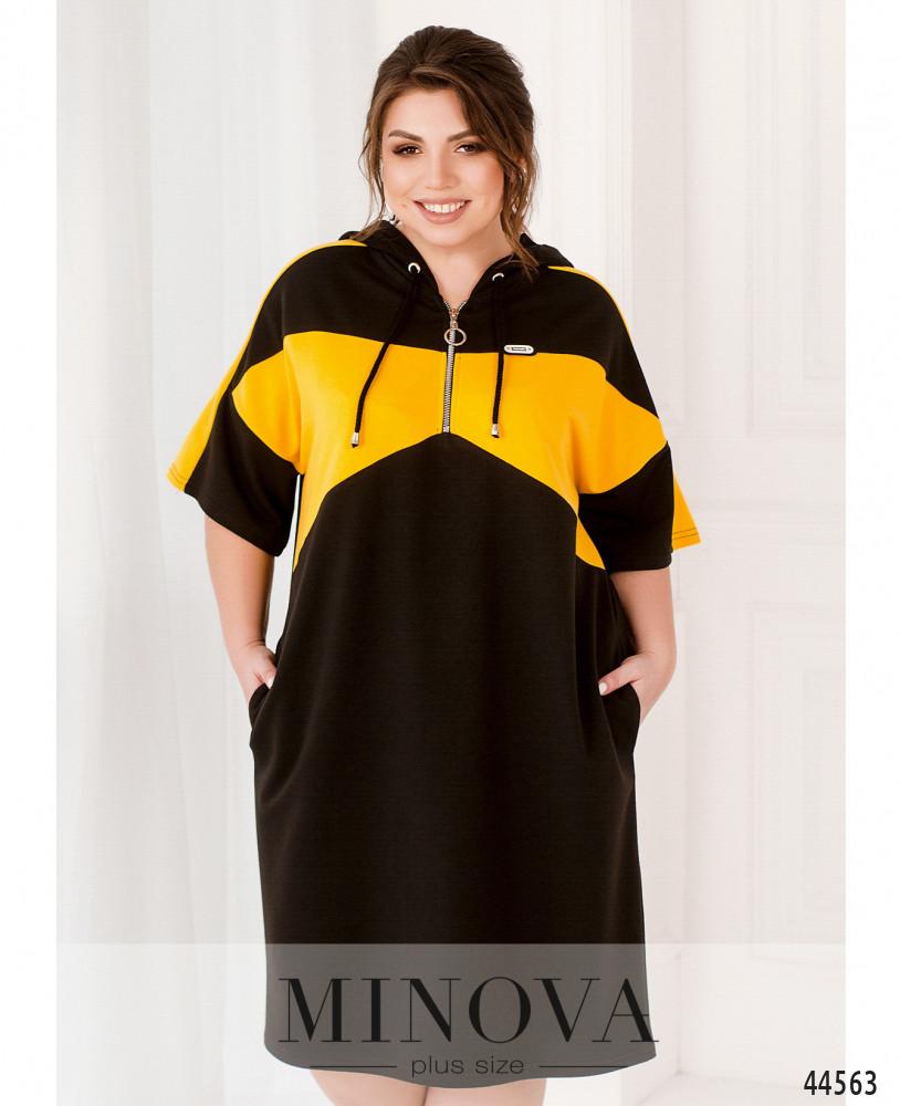 Платье MA17-200-черный-желтый