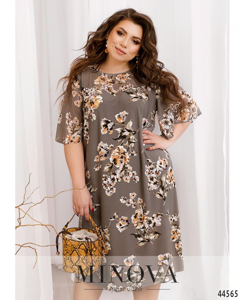 Платье MA19-009-дымчато-серый