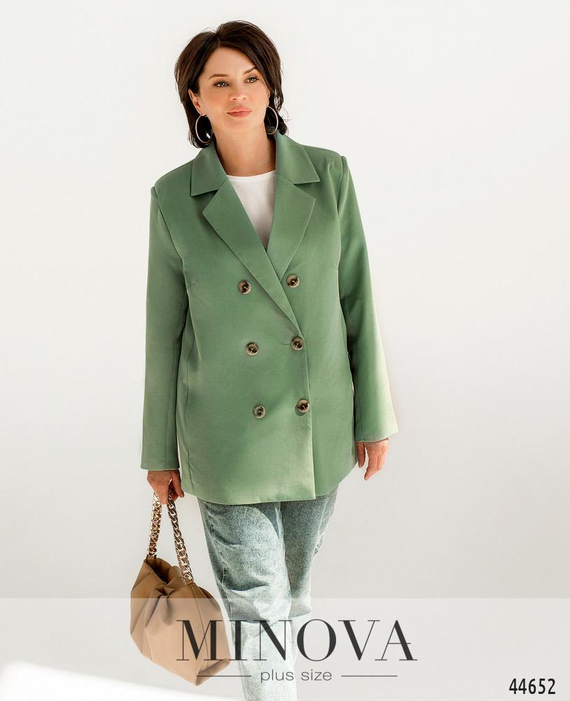Пиджак MA70156-1-оливковый