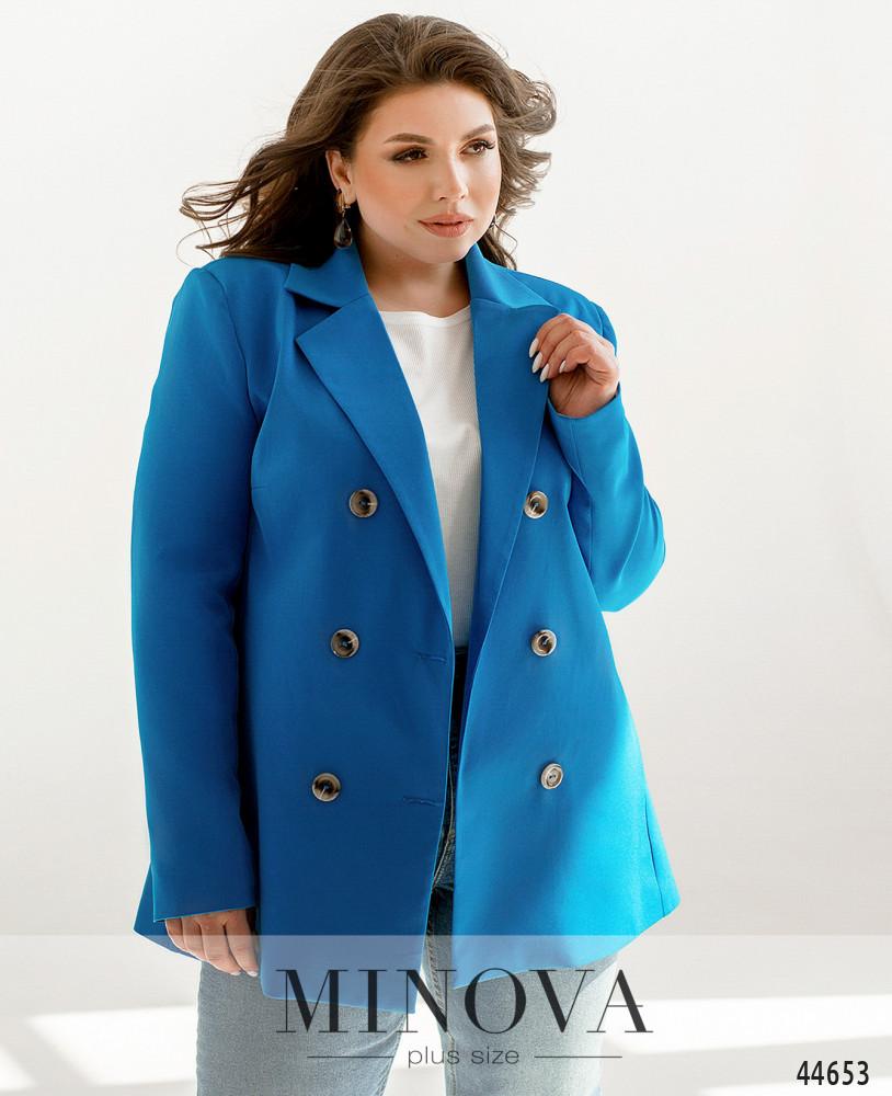 Пиджак MA70156-1-голубой