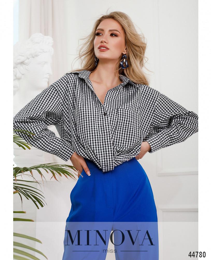 Рубашка MA312-белый-синий (н)