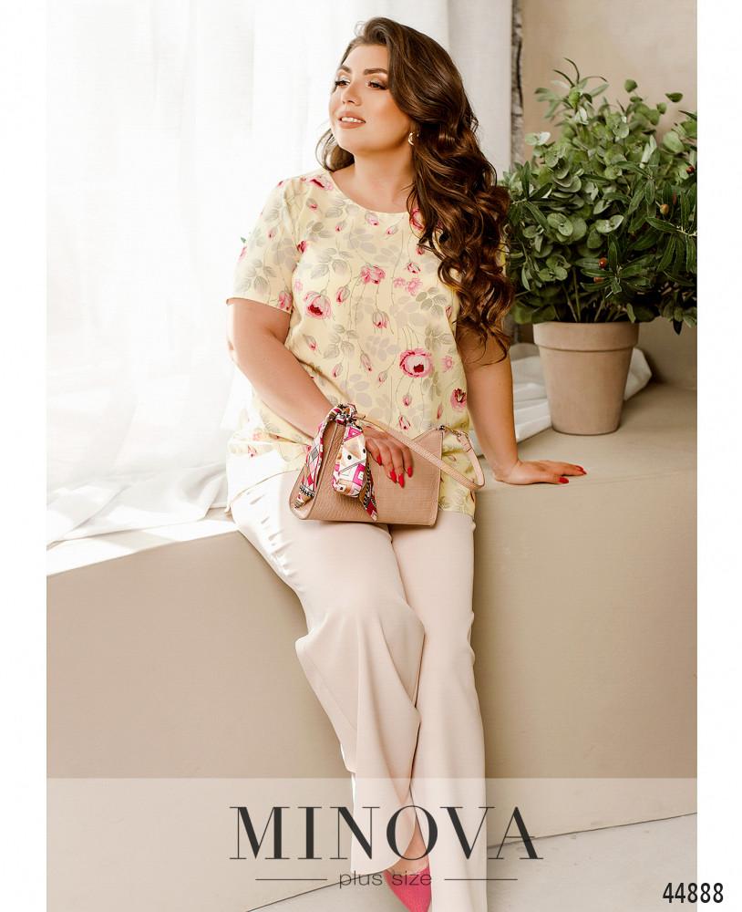 Блуза MA2258-кремовый
