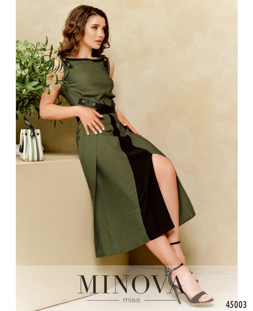 Платье MA4128-хаки (н)