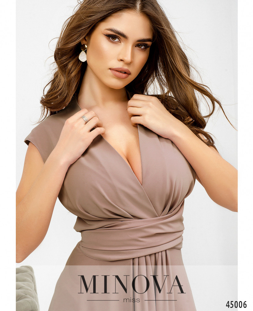 Платье MA1082-пудровый (н)