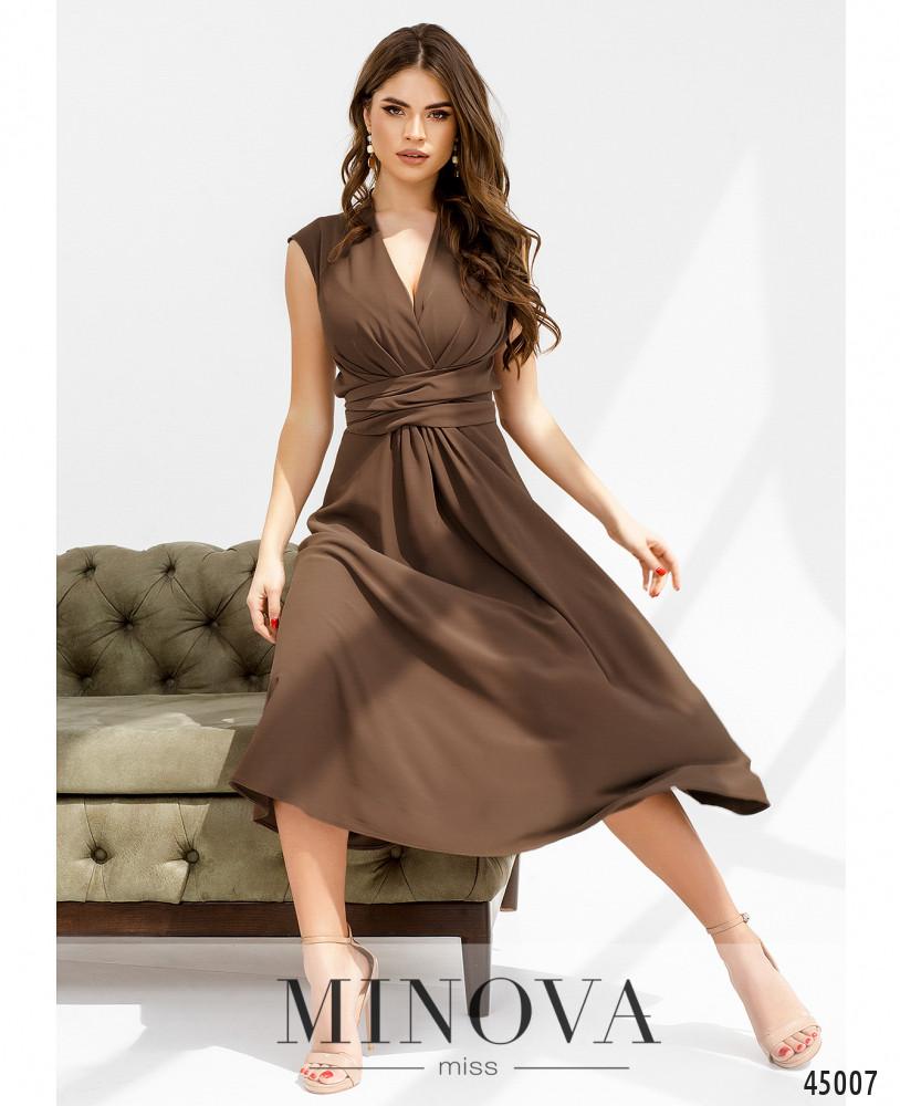 Платье MA1082-кофейный (н)