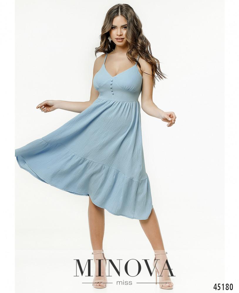 Платье MA2177-голубой (н)