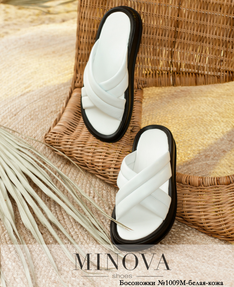 Босоножки MA1009М-белая-кожа