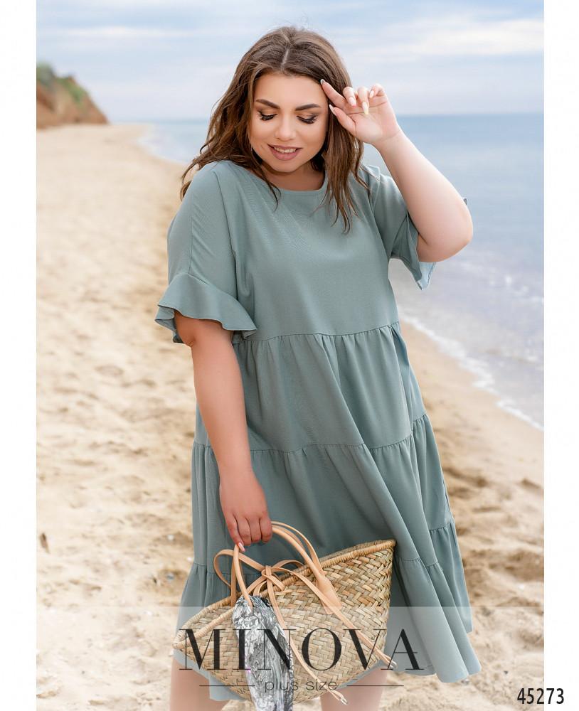Платье MA991-серо-голубой