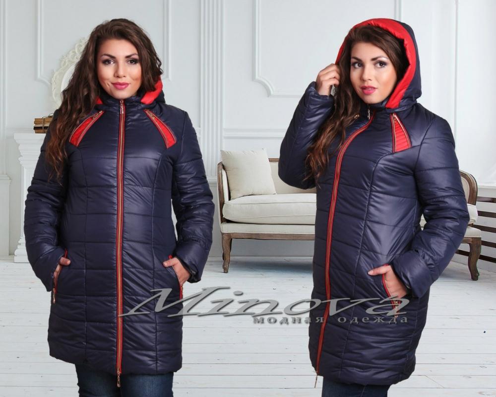 Куртка №00122-тем.синий