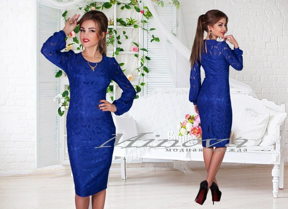 Платье №411-электрик (sale)